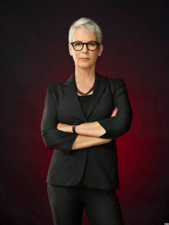 SCREAM QUEENS: Jamie Lee Curtis as Dean Cathy Munsch in SCREAM QUEENS which debuts with a special, two-hour series premiere event on Tuesday, September 22 (8:00-10:00 PM ET/PT) on FOX. ©2015 Fox Broadcasting Co. Cr: Matthias Clamer/FOX.